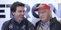 Mercedes-Motorsportchef Toto Wolff und der Aufsichtsratsvorsitzende Niki Lauda