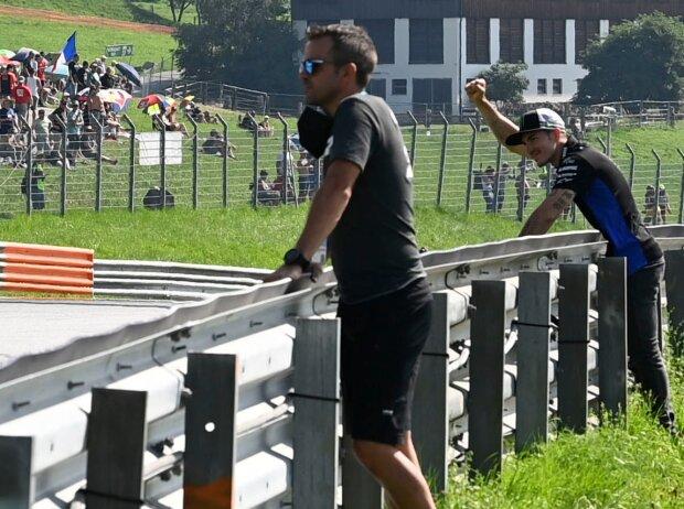 Maverick Vinales als Zuschauer beim FT1 zum GP Österreich 2021 in Spielberg