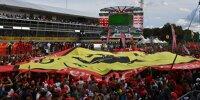 Fans unter dem Podest in Monza