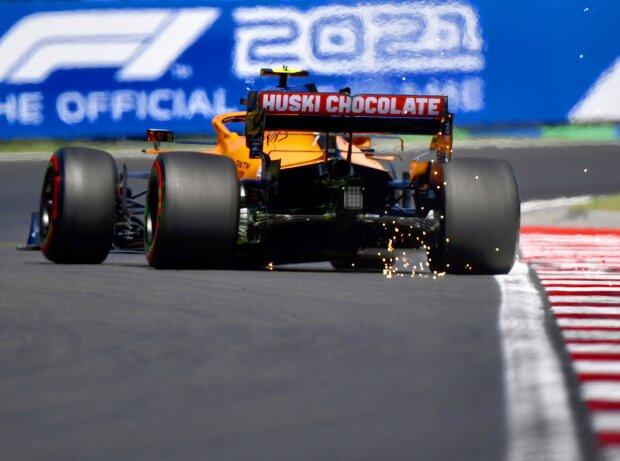 Lando Norris (McLaren) im Qualifying zum Formel-1-Rennen in Budapest (Ungarn) am Hungaroring