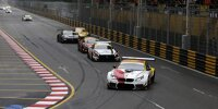 GT3-Autos auf dem Guia Circuit beim GT-Weltcup in Macau 2019