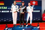Luca Stolz, Kelvin van der Linde (Abt-Audi) und Philip Ellis (Winward-Mercedes)
