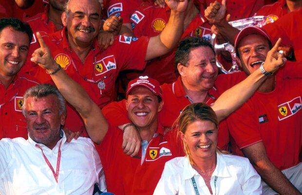 Michael Schumacher Jean Todt Rubens Barrichello Ferrari Ferrari F1 ~Michael Schumacher, Jean Todt und Rubens Barrichello ~