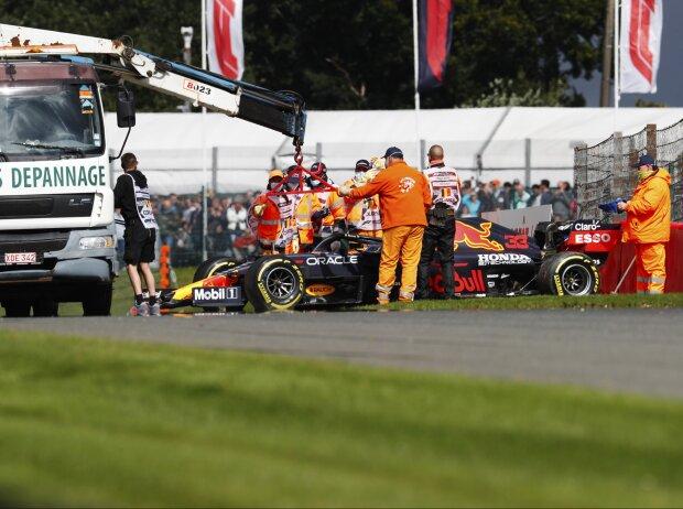 Max Verstappens Unfall im Freitagstraining zum Grand Prix von Belgien in Spa-Francrochamps 2021