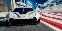 Testauto von Veloqx auf dem Bahrain International Circuit