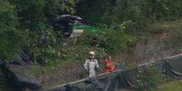 Der Jota-McLaren von Oliver Wilkinson nach dem Unfall in Brands Hatch