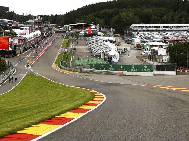 Eau Rouge in Spa-Francorchamps 2021 bei der Formel 1