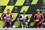 Romano Fenati (Max Racing), Gabriel Rodrigo (Gresini) und Riccardo Rossi (BOE)