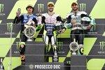 Romano Fenati (Max Racing), Niccolo Antonelli (Avintia) und Dennis Foggia (Leopard)