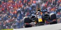 Max Verstappen (Red Bull RB16B) auf der Formel-1-Strecke von Zandvoort