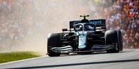 Sebastian Vettel wirbelte nach seinem Dreher im Aston Martin im Grand Prix der Niederlande der Formel 1 2021 viel Staub auf