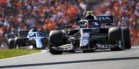 Pierre Gasly (AlphaTauri AT02) vor Fernando Alonso (Alpine A521) beim Formel-1-Rennen in Zandvoort 2021