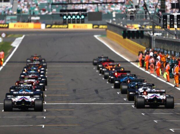 Startaufstellung zum GP Großbritannien 2021 in Silverstone