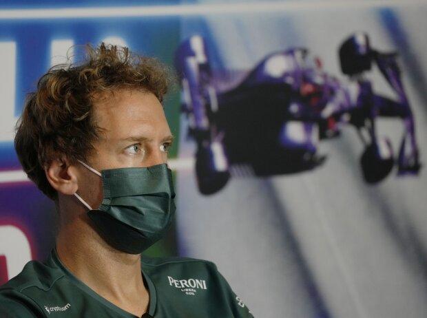 Sebastian Vettel von Aston Martin in der Pressekonferenz vor dem Grand Prix von Italien der Formel 1 2021 in Monza