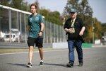 Sebastian Vettel (Aston Martin) mit Vater Norbert Vettel
