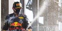 Max Verstappen (Red Bull) feiert den Sieg beim Großen Preis der Niederlande in Zandvoort 2021