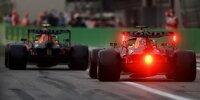 Sergio Perez vor Max Verstappen (Red Bull RB16B) im Qualifying beim Formel-1-Rennen von Italien in Monza 2021