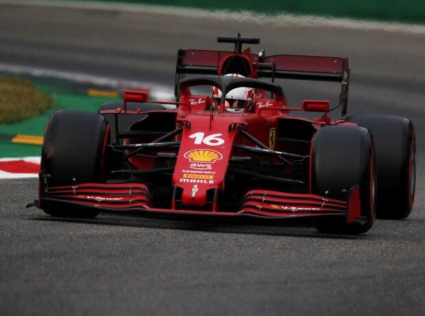 Charles Leclerc im Ferrari SF21 in Monza