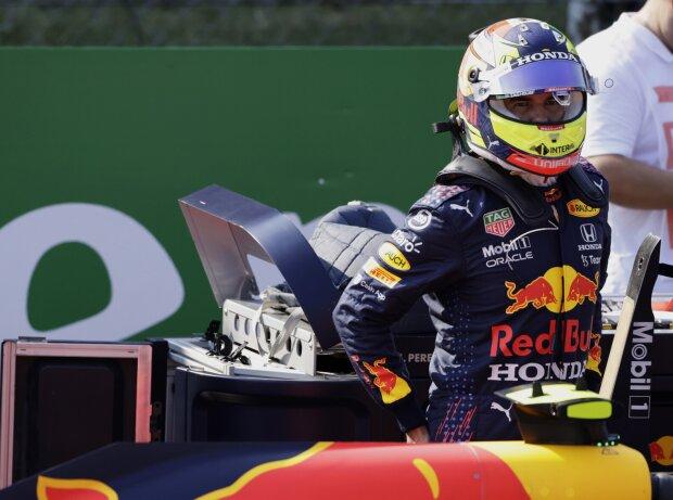 Sergio Perez (Red Bull) im Grid vor dem Formel-1-Sprint in Monza 2021