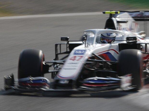 Mick Schumacher im Haas VF-21 im Sprintqualifying beim Grand Prix von Italien der Formel 1 2021 in Monza