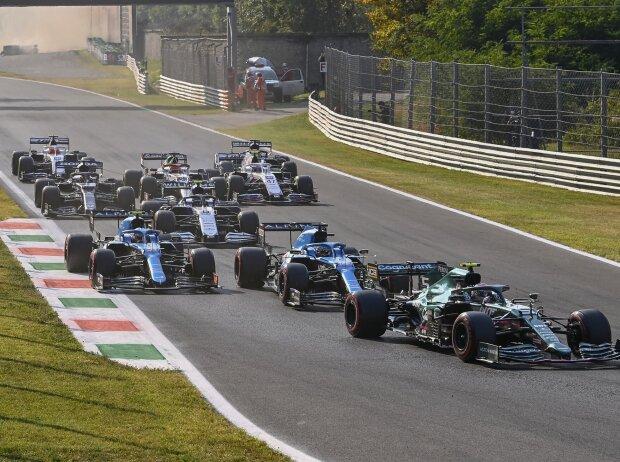 Szene aus dem Sprintqualifying der Formel 1 2021 beim Grand Prix von Italien in Monza