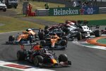 Max Verstappen (Red Bull), Daniel Ricciardo (McLaren), Lando Norris (McLaren) und Pierre Gasly (AlphaTauri)