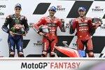 Francesco Bagnaia (Ducati), Jack Miller (Ducati) und Fabio Quartararo (Yamaha)