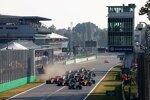 Valtteri Bottas (Mercedes), Max Verstappen (Red Bull), Daniel Ricciardo (McLaren), Lando Norris (McLaren), Lewis Hamilton (Mercedes) und Pierre Gasly (AlphaTauri)