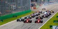 Start in Monza: Kimi Räikkönen, Sebastian Vettel, Lewis Hamilton, Valtteri Bottas, Max Verstappen
