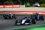 Nicholas Latifi (Williams), Esteban Ocon (Alpine), Robert Kubica (Alfa Romeo) und Sebastian Vettel (Aston Martin)