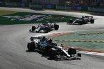 Sebastian Vettel (Aston Martin), Robert Kubica (Alfa Romeo) und Antonio Giovinazzi (Alfa Romeo)