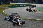 Lando Norris (McLaren), Sergio Perez (Red Bull), Max Verstappen (Red Bull) und Lewis Hamilton (Mercedes)