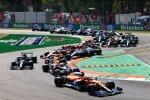 Daniel Ricciardo (McLaren), Max Verstappen (Red Bull), Lando Norris (McLaren), Lewis Hamilton (Mercedes) und Charles Leclerc (Ferrari)