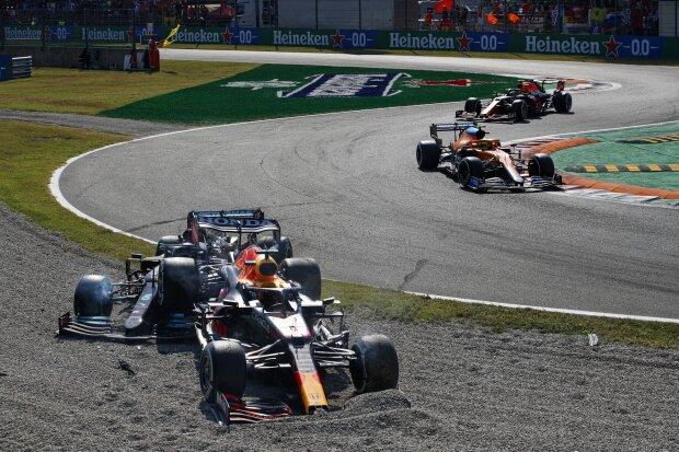 Lando Norris Sergio Perez Max Verstappen Lewis Hamilton McLaren McLaren F1Red Bull Red Bull F1Mercedes Mercedes F1 ~Lando Norris (McLaren), Sergio Perez (Red Bull), Max Verstappen (Red Bull) und Lewis Hamilton (Mercedes) ~