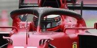 Der Cockpitschutz Halo am Ferrari SF21 von Carlos Sainz beim Grand Prix von Italien der Formel 1 2021 in Monza