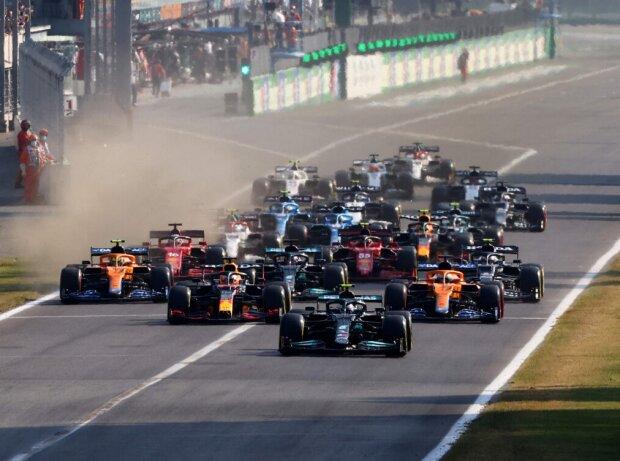Valtteri Bottas, Max Verstappen, Daniel Ricciardo, Lando Norris, Lewis Hamilton, Pierre Gasly