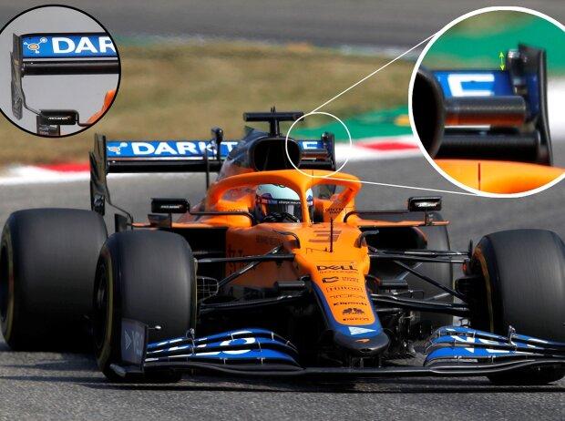 Daniel Ricciardo im McLaren MCL35M mit dem speziellen Set-up für den Grand Prix von Italien der Formel 1 2021 in Monza