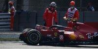 Carlos Sainz nach seinem Unfall im Training in Monza