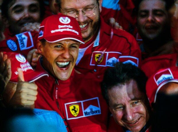 Michael Schumacher, Ross Brawn, Jean Todt