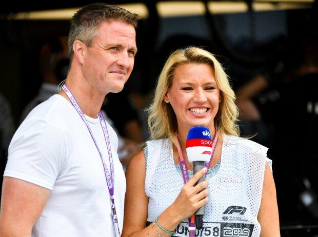 Ralf Schumacher mit Sky-Reporterkollegin Sandra Baumgartner