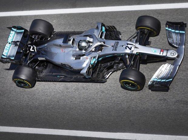 Nikita Masepin bei einem seiner vielen Tests im Formel-1-Mercedes, hier im Jahr 2019 in Barcelona
