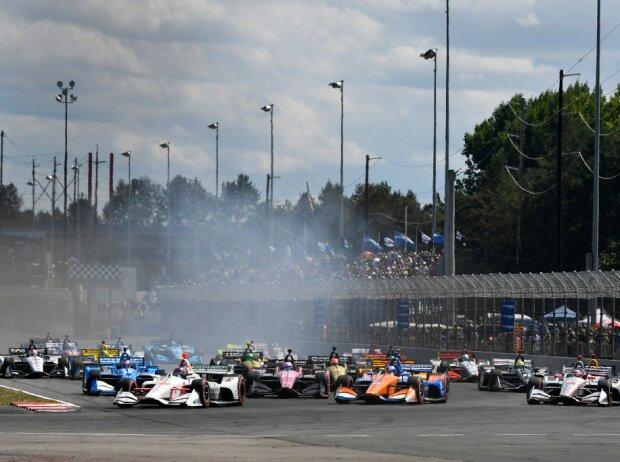 Start zum Grand Prix von Portland der IndyCar-Saison 2019: Colton Herta führt