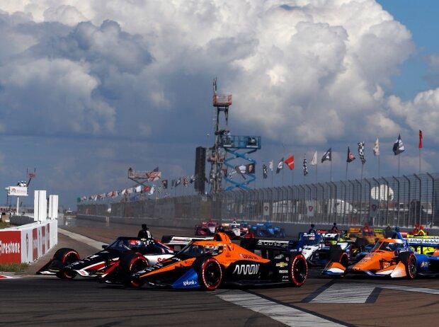 Renn-Action beim Grand Prix von St. Petersburg der IndyCar-Sason 2020
