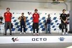 Jack Miller (Ducati), Raul Fernandez (KTM Ajo), Francesco Bagnaia (Ducati), Romano Fenati (Max Racing) und Fabio Quartararo (Yamaha)