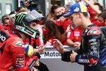 Francesco Bagnaia (Ducati) und Fabio Quartararo (Yamaha)