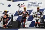 Raul Fernandez (KTM Ajo), Remy Gardner (KTM Ajo) und Aron Canet (Aspar)