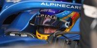 Fernando Alonso im Cockpit des Formel-1-Autos von Alpine