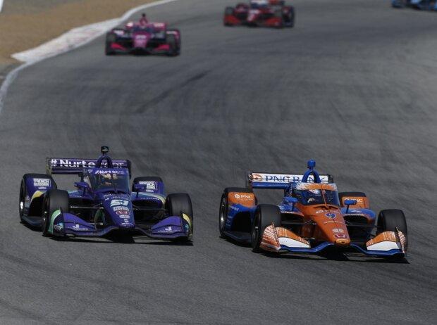 Romain Grosjean und Scott Dixon beim Rennen der IndyCar-Serie in Laguna Seca 2021