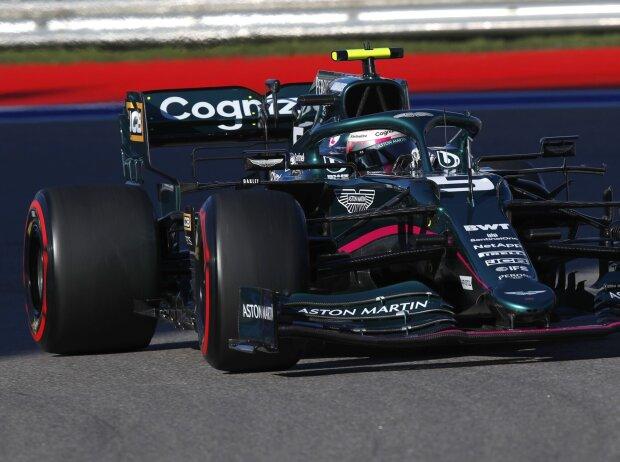 Sebastian Vettel im Aston Martin AMR21 beim Grand Prix von Russland der Formel 1 2021 in Sotschi