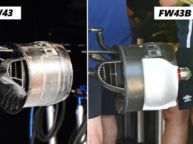 Bremsschacht und Bremstrommel am Williams FW43 und am Williams FW43B aus der Formel 1
